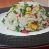 Rengarenk: Kırmızı Biberli Mısırlı Pirinç Pilavı Tarifi