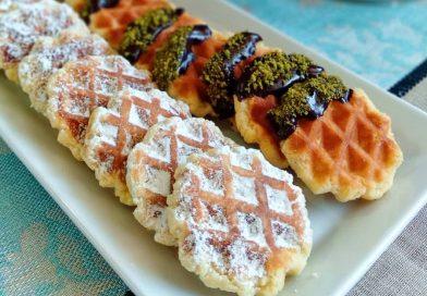 Şık Görünümlü: Waffle Kurabiye Tarifi